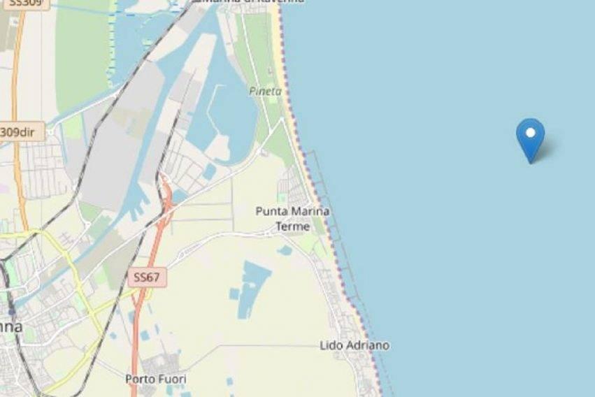 scossa di terremoto al largo di Ravenna