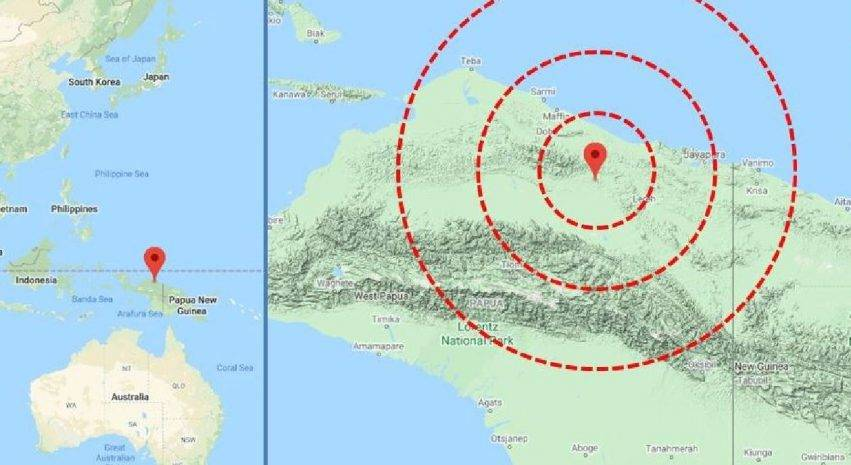 scossa di terremoto registrata in indonesia