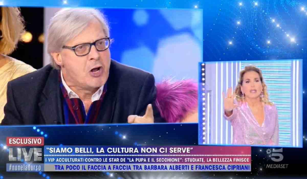 Mediaset allontana Sgarbi dopo la lite con Barbara d'Urso: il gossip