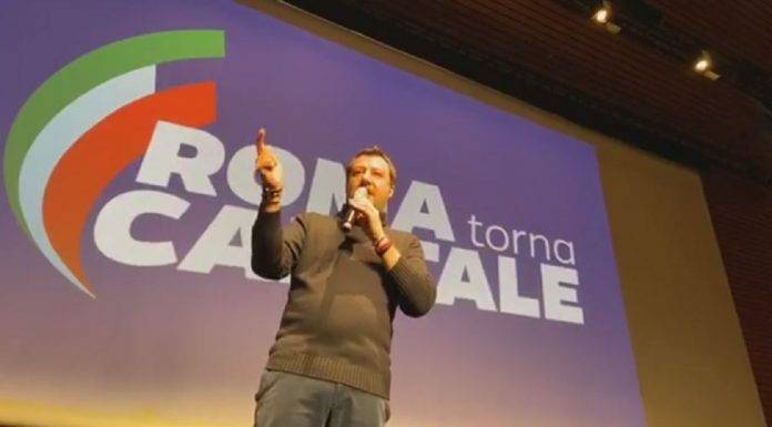 Matteo Salvini all'Eur
