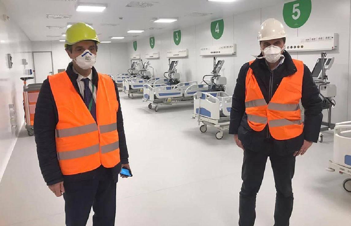 """Coronavirus, Fontana visita il nuovo ospedale in Fiera: """"È q"""
