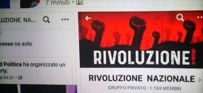 Indagine gruppo facebook rivoluzione