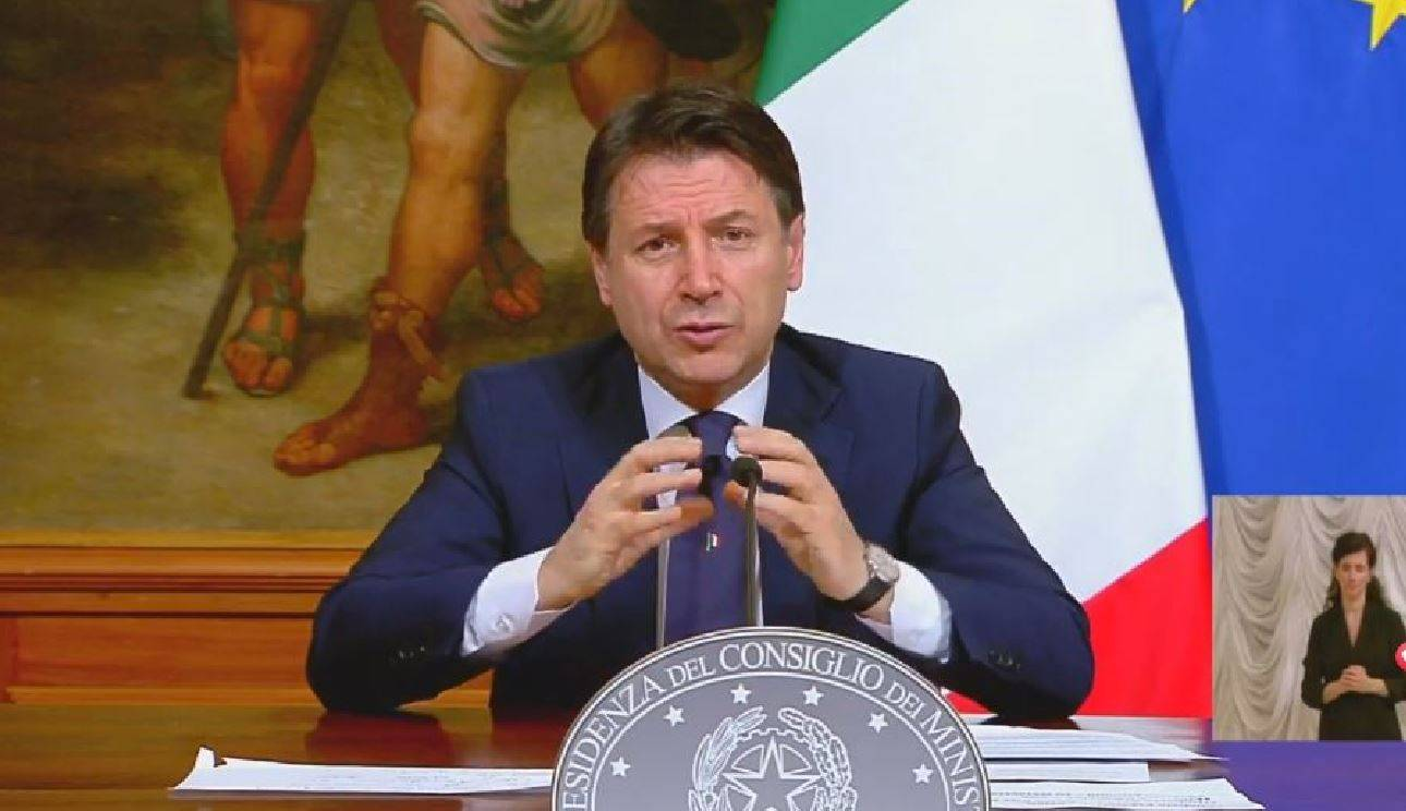 Coronavirus: il presidente Giuseppe Conte annuncia l'inizio della Fase 2