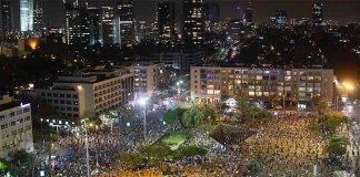 Israele, manifestazione con distanziamento sociale