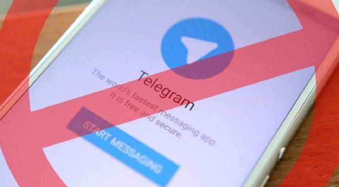 Telegram sospensione