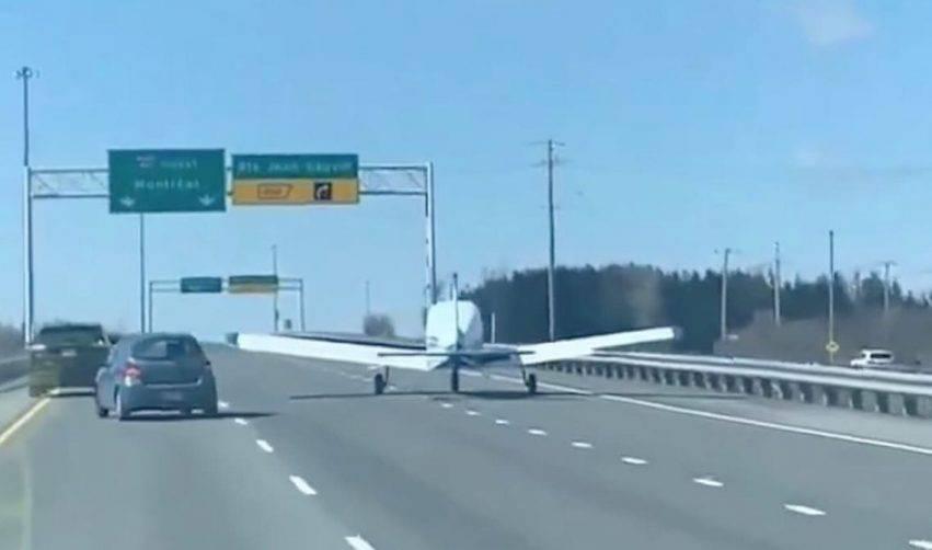atterraggio sulla strada