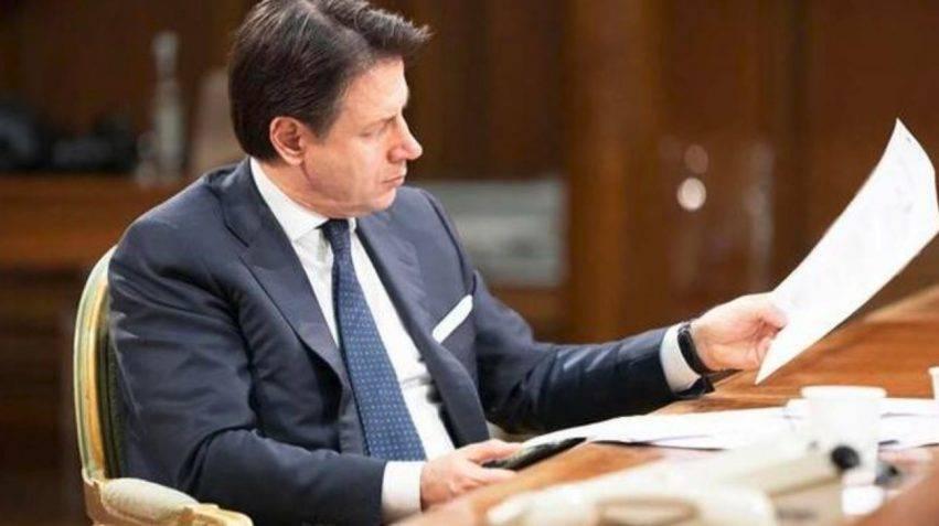 Giuseppe Conte dpcm allo studio