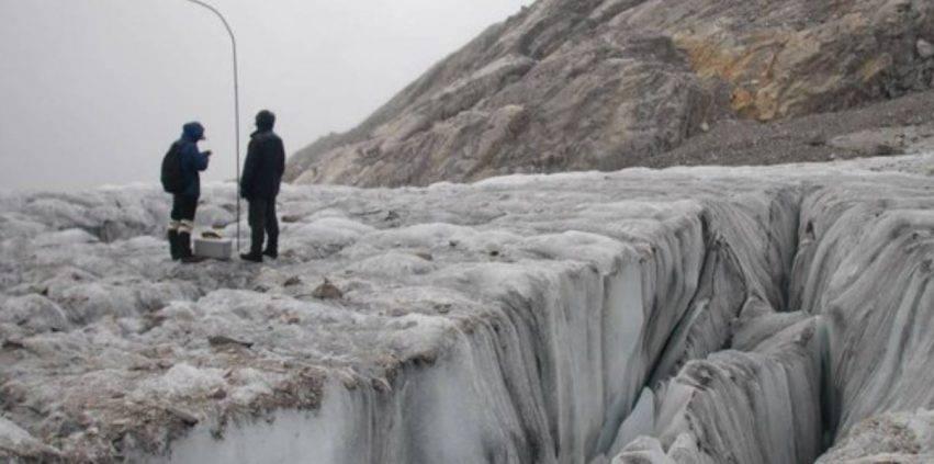 radioattività sui ghiacciai