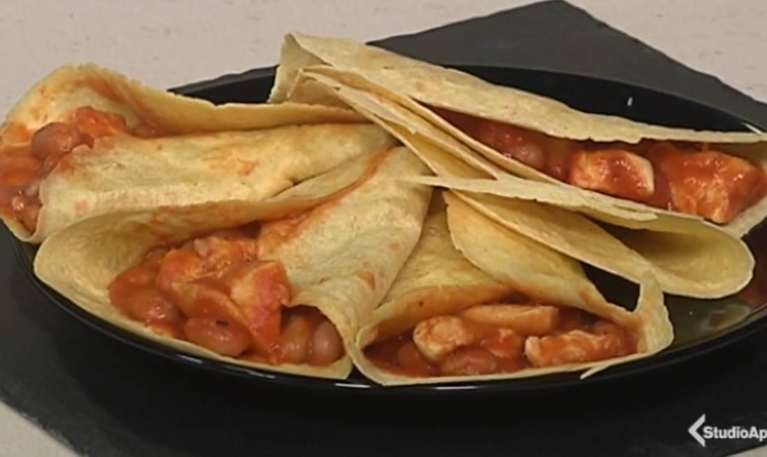 Cotto e Mangiato, ricetta 27 Maggio: tortillas pollo e fagio