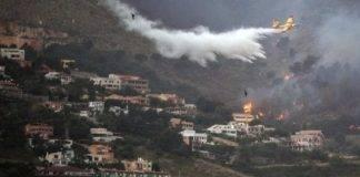 Palermo, incendio a Monte Cuccio