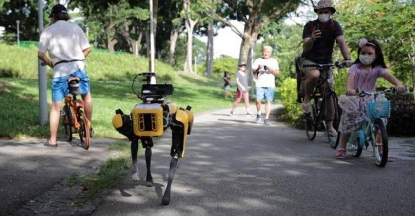 robot distanziatore nei parchi