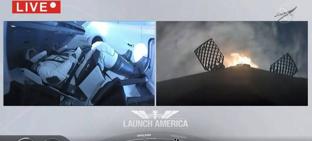 Nasa Space X, il lancio della Crew Dragon da Cape Canaveral