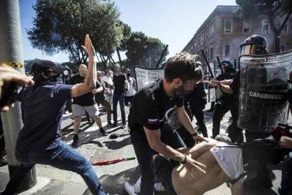 Disordini a manifestazione ultras a Roma