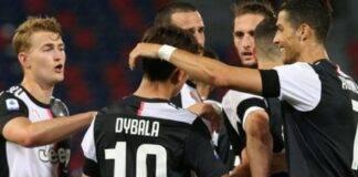 Juventus dopo un gol segnato