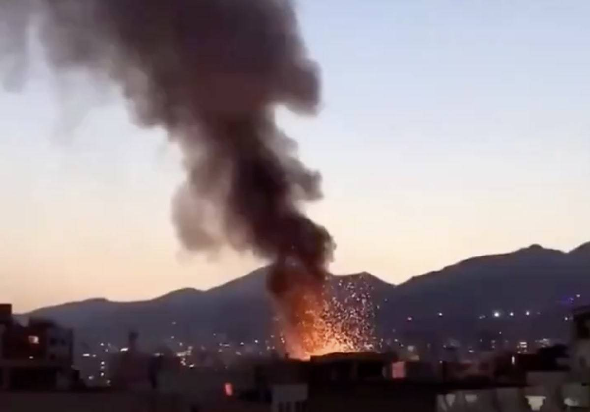 Ospedale in fiamme Teheran