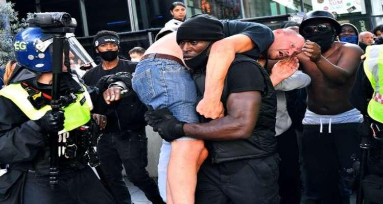 scontri proteste blm salvato