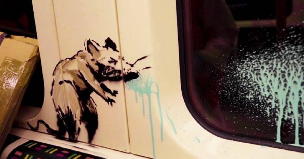 Bansky e i ratti in metropolitana