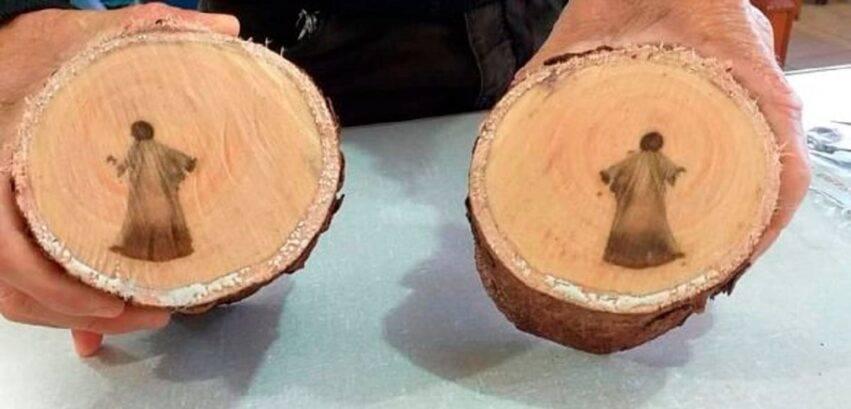 Messia immagine nel tronco