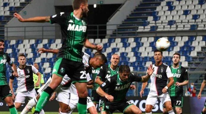 Sassuolo Juventus Serie A azione