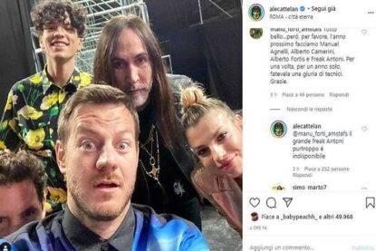 X Factor 2020 selfie Cattelan giudici