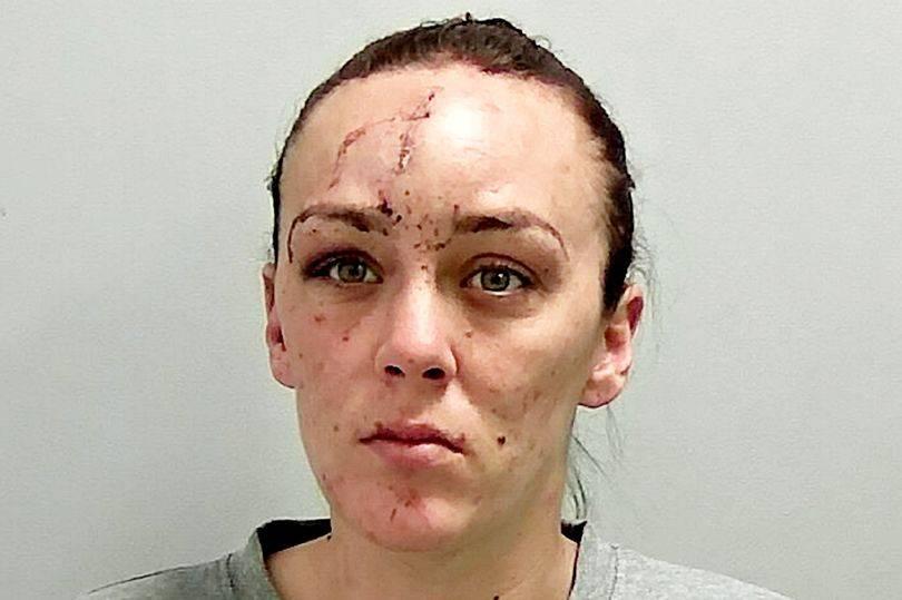 La donna che ha aggredito le agenti di polizia