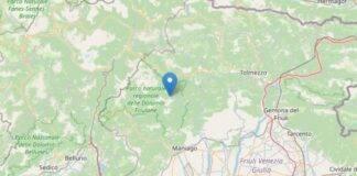 Epicentro sisma 13 luglio Friuli