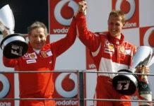 Todt e Schumacher in una foto d'annata