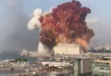 beirut distrutta dell'esplosione