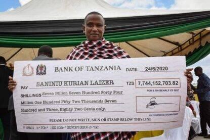 Minatore definito il più fortunato del mondo in Tanzania