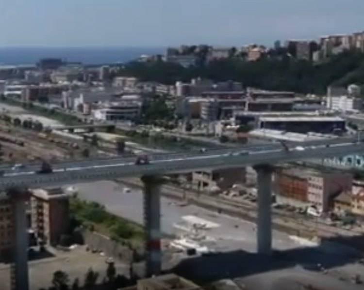 Visone laterale del nuovo Ponte Genova San Giorgio