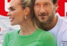Uno scorcio della copertina di Oggi con Ilary Blasi e Francesco Totti
