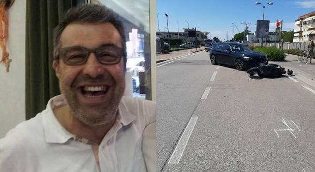 Dramma a Jesolo: impatto scooter – BMW, muore il noto albergatore Roberto Borella