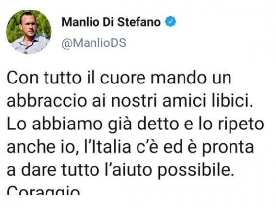 La gaffe social di Manlio di Stefano