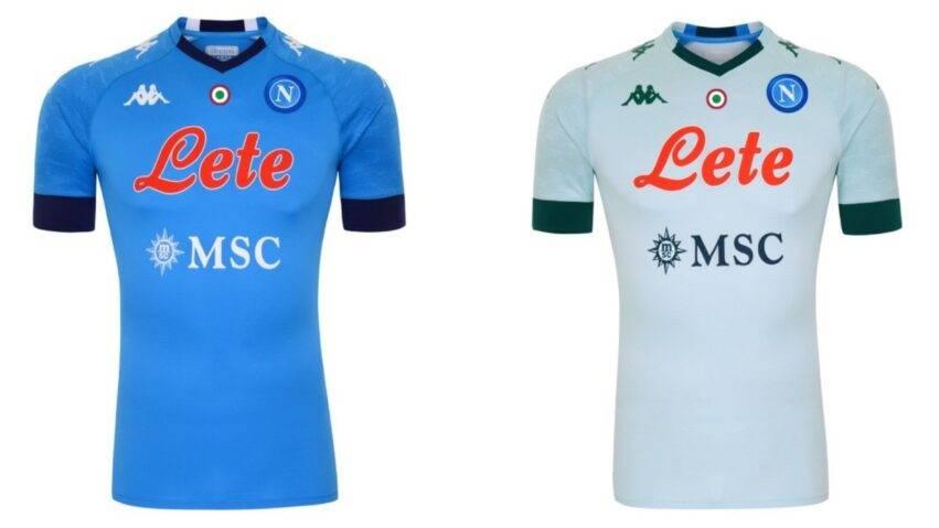 Le maglie del Napoli con sponsor Lete