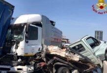 violento scontro sulla A4 in direzione Novara