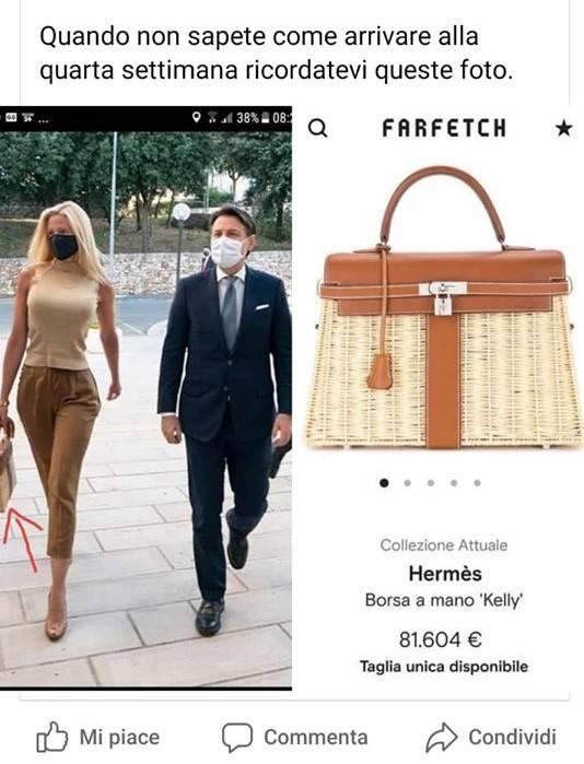Post indignato contro la borsetta di Olivia Paladino