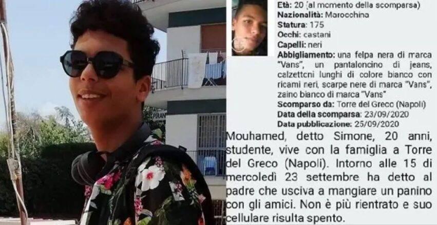 studente scomparso da 4 giorni
