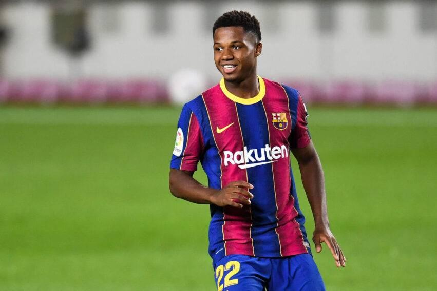 Ansu Fati con la casacca del Barça