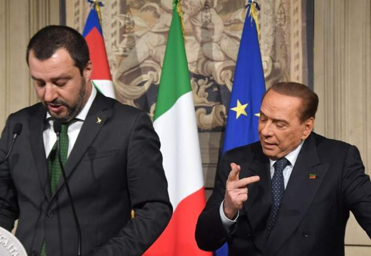 berlusconi salvini lega forza italia