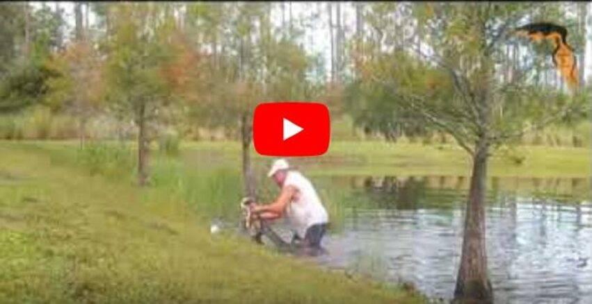 l'uomo si è tuffato in acqua