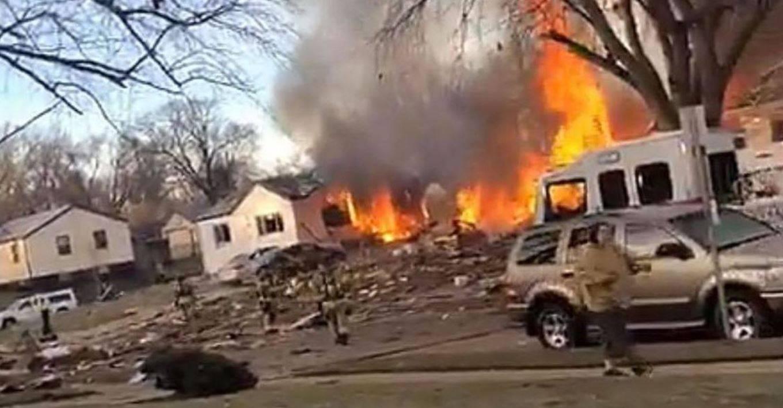 tremenda esplosione casa rasa al suolo