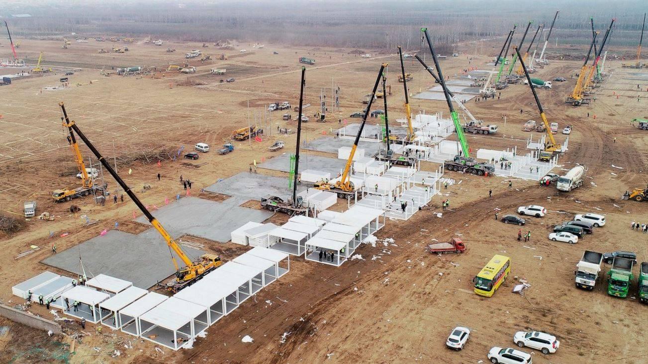 Emergenza Covid, in Cina hanno costruito un nuovo ospedale in 5 giorni