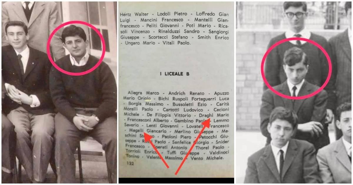 Mario Draghi e Giancarlo Magalli