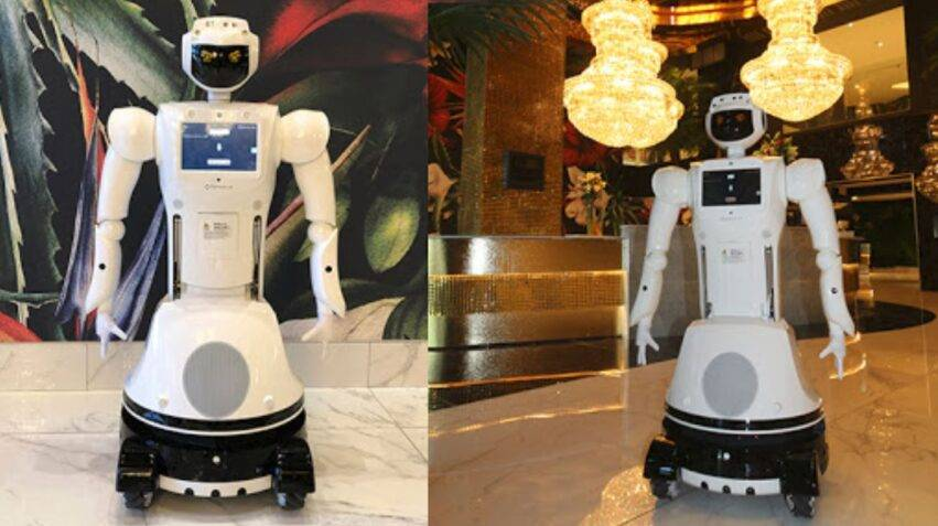 robot in hotel in africa