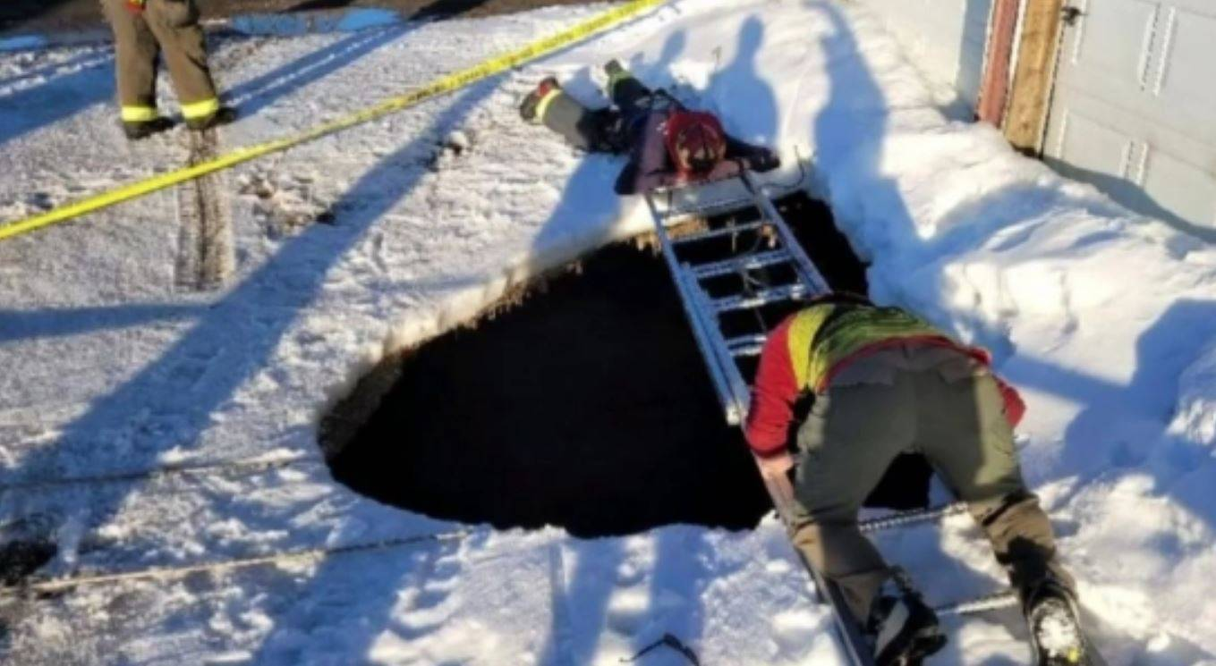 caduto nella sinkhole